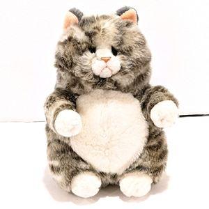 "2/$20 Russ grey tabby cat plush Prudence 9"""